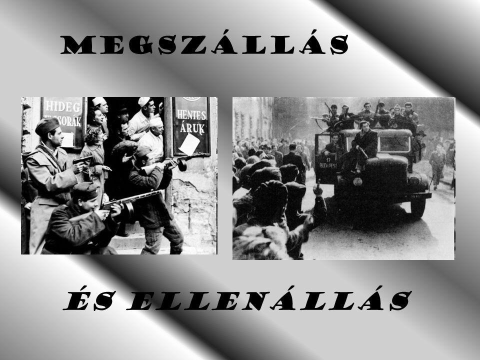 A szabadság napjai Kivonuló szovjet egységek a Hősök Terénél. a Hősök Terénél. 1956. október 31. 1956. október 31. Holttestek összeszedése a harcok sz