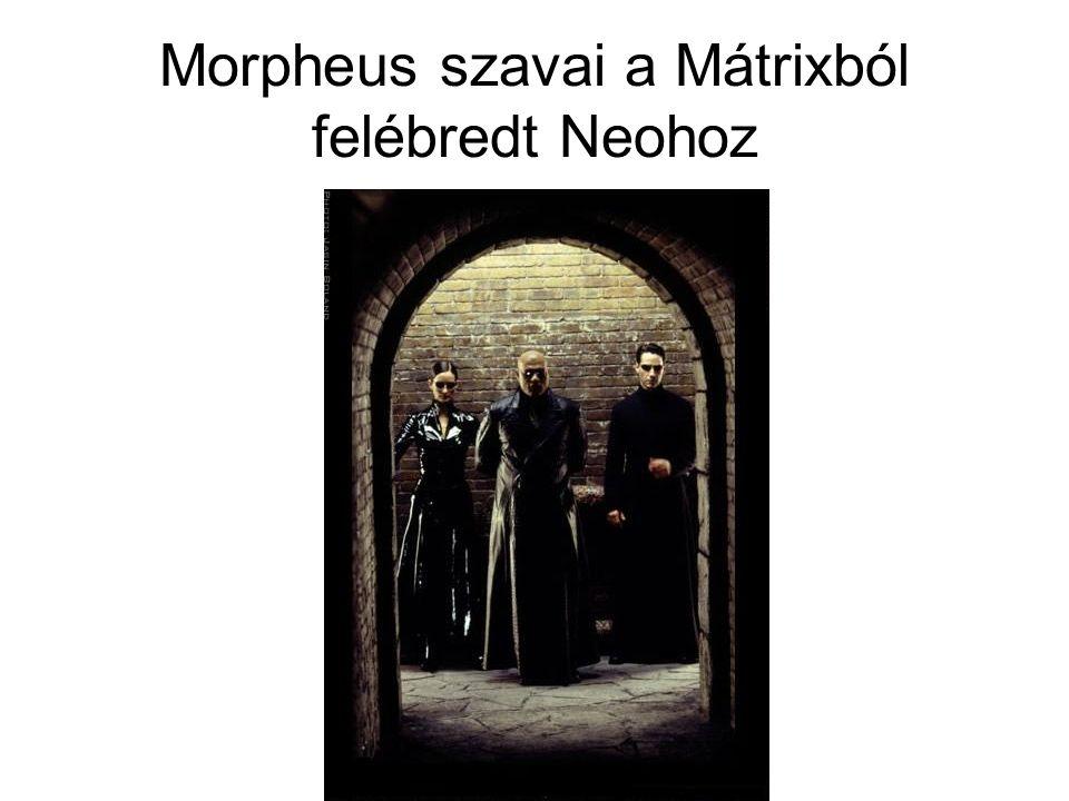 Morpheus szavai a Mátrixból felébredt Neohoz