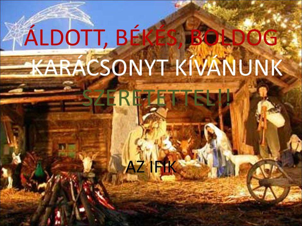 ÁLDOTT, BÉKÉS, BOLDOG KARÁCSONYT KÍVÁNUNK SZERETETTEL!! AZ IFIK