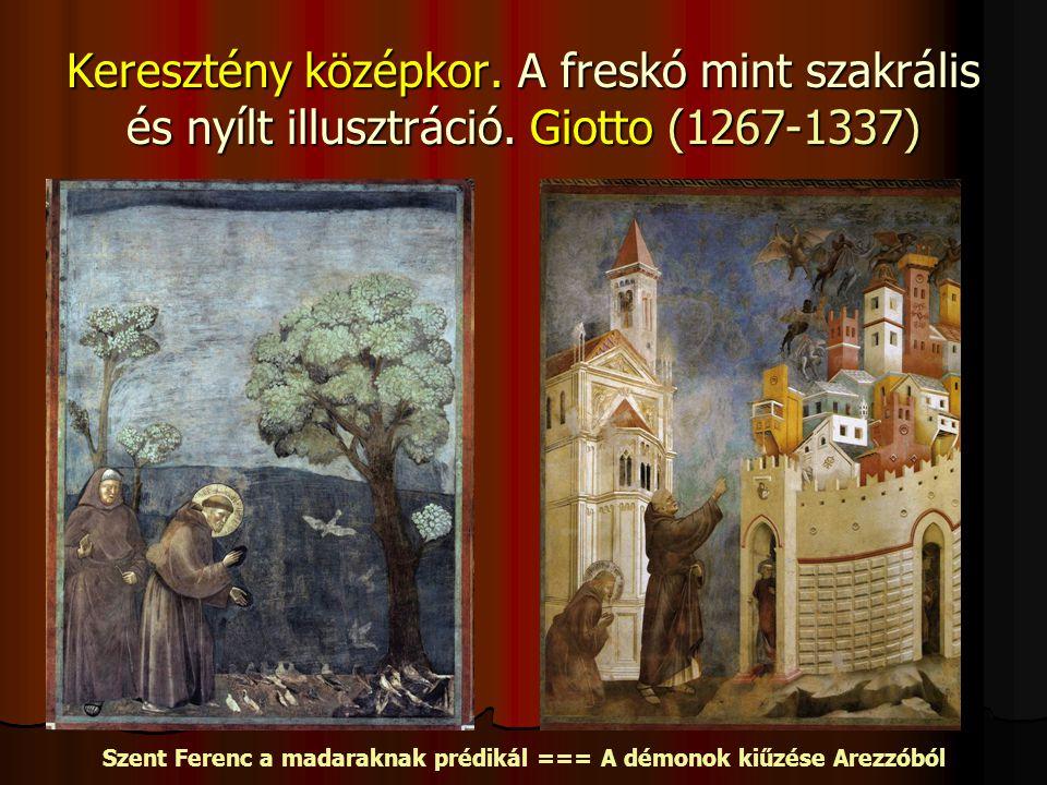Keresztény középkor.A freskó mint szakrális és nyílt illusztráció.
