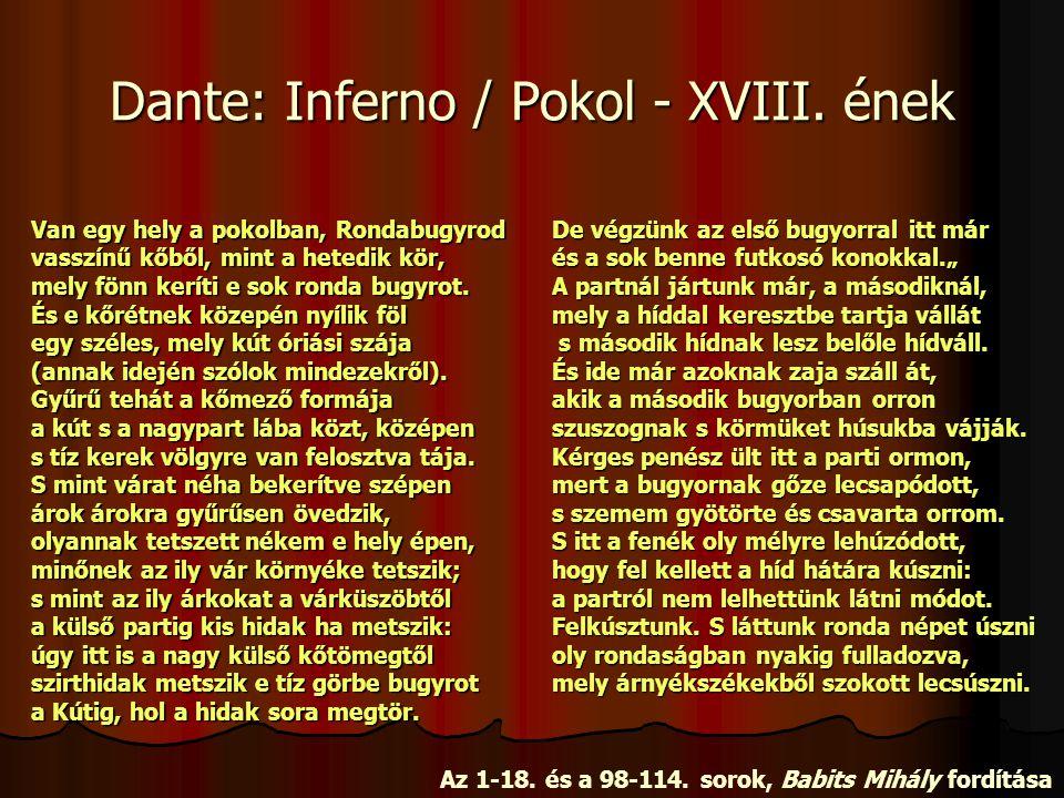 Dante: Inferno / Pokol - XVIII.