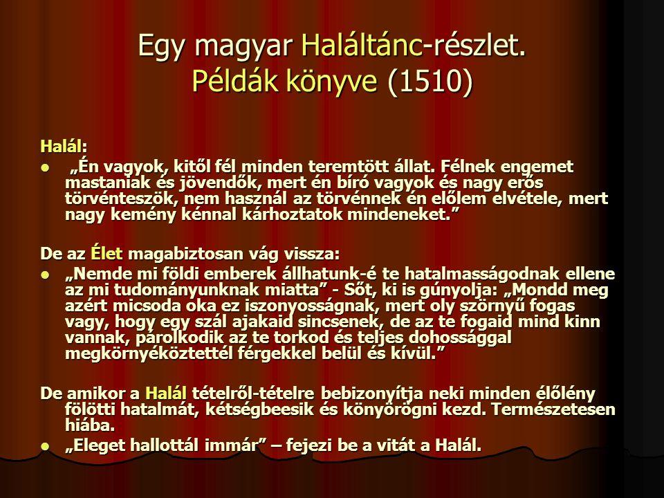 Egy magyar Haláltánc-részlet.
