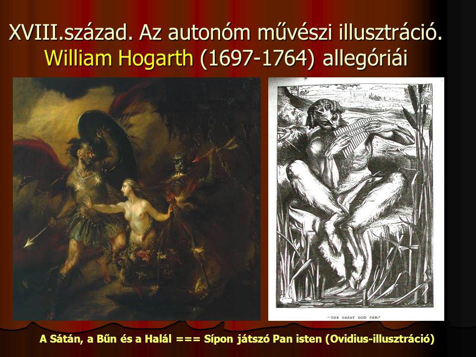 XVIII.század.Az autonóm művészi illusztráció.