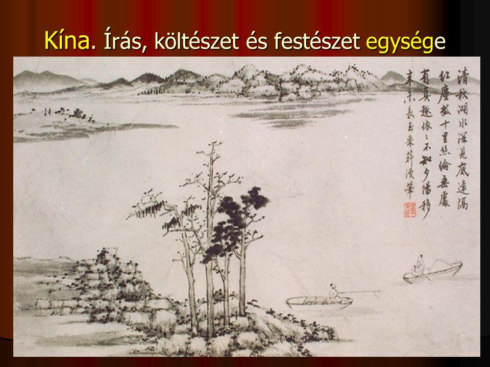 Kína. Írás, költészet és festészet egysége