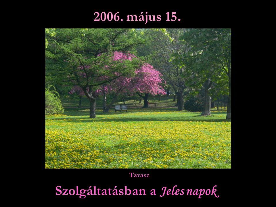 Szolgáltatásban a Jeles napok 2006. május 15. Tavasz