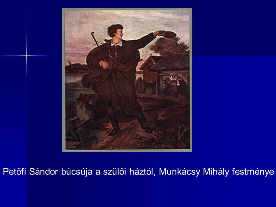 Petőfi Sándor búcsúja a szülői háztól, Munkácsy Mihály festménye