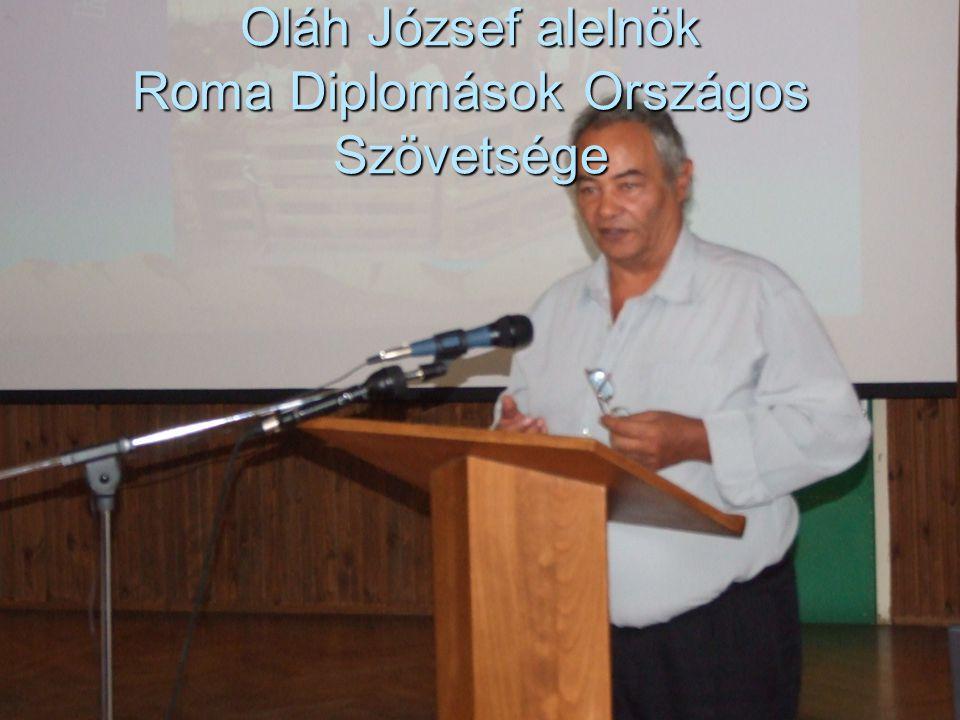 50 Oláh József alelnök Roma Diplomások Országos Szövetsége