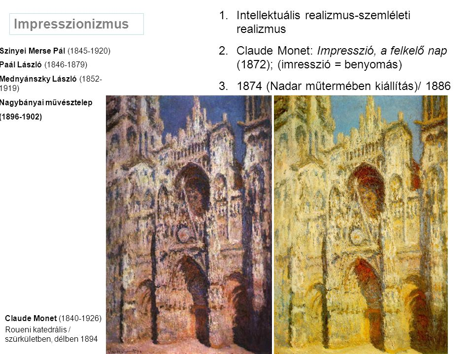 Posztimpresszionizmus Pointilizmus Felosztás, optikai törvények Georges Seurat (1859-1891) Vasárnap délután a Grande Jatte szigetén 1884/85 Op'art Színek optikai variációi (ritmus képletek) Vasarely, Victor (1908-1997) Fractál (önazonos alakzat) mandala (kör/kozmosz jelkép buddhizmus) 1992