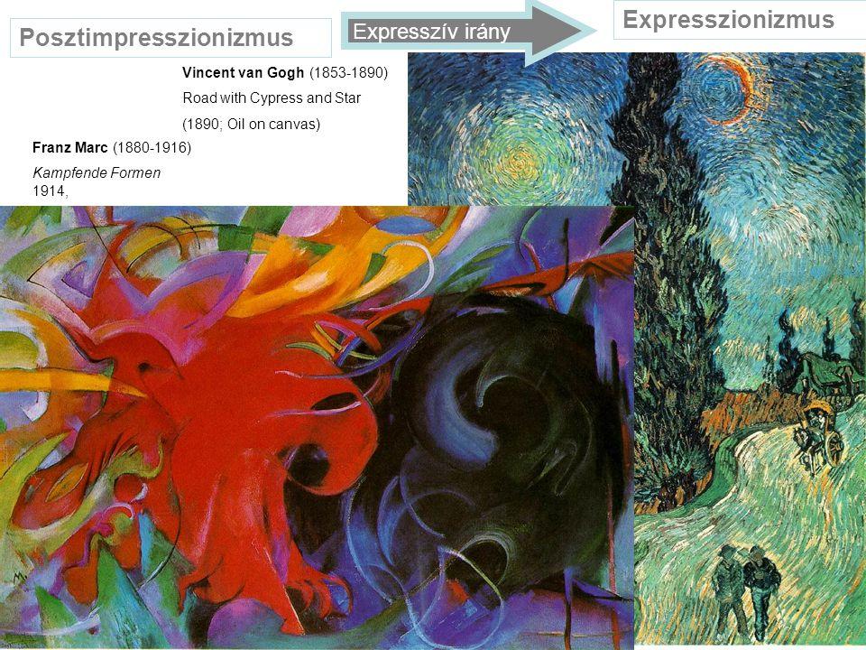 Posztimpresszionizmus Paul Cezanne (1839-1906) Mont-Sainte Victoire 1891 Georges Braque (1882-1963) Houses at L Estaque 1908 Oil on canvas Kubizmus Konstruktivista irány