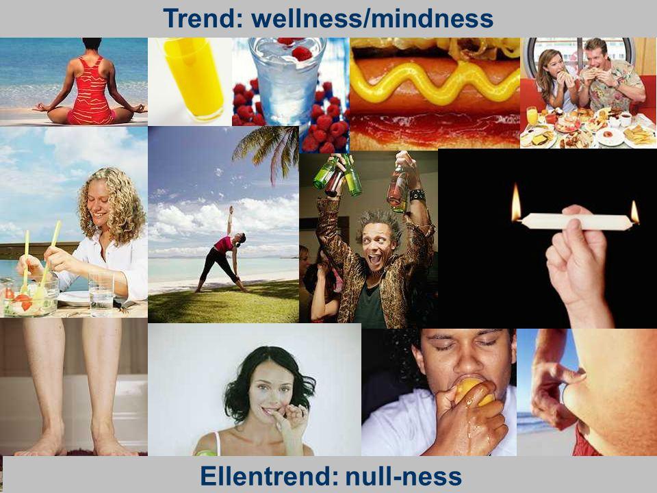 Trend: wellness/mindness Ellentrend: null-ness