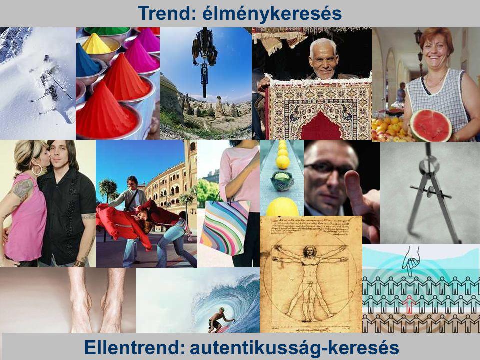 Trend: élménykeresés Ellentrend: autentikusság-keresés