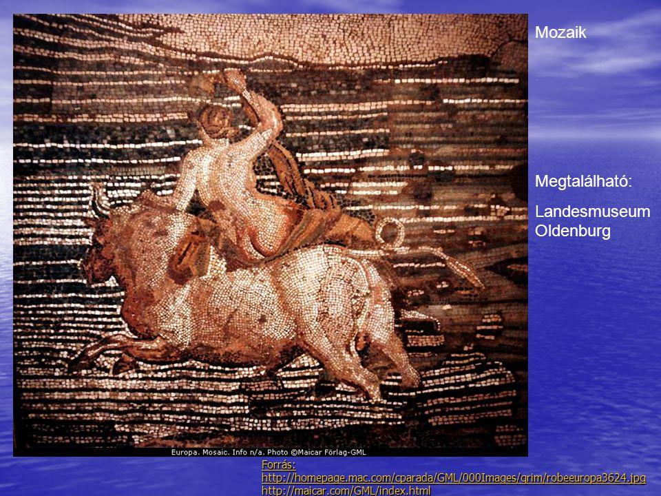 Forrás: http://homepage.mac.com/cparada/GML/000Images/qrim/robeeuropa3624.jpg http://maicar.com/GML/index.html Mozaik Megtalálható: Landesmuseum Olden