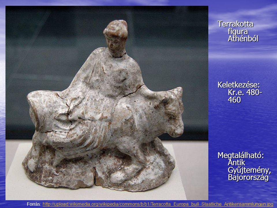 Terrakotta figura Athénból Keletkezése: Kr.e. 480- 460 Megtalálható: Antik Gyűjtemény, Bajorország Forrás: http://upload.wikimedia.org/wikipedia/commo