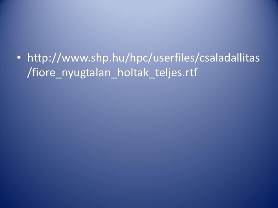• http://www.shp.hu/hpc/userfiles/csaladallitas /fiore_nyugtalan_holtak_teljes.rtf