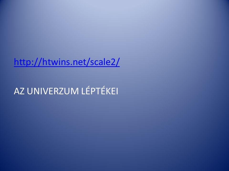 http://htwins.net/scale2/ AZ UNIVERZUM LÉPTÉKEI