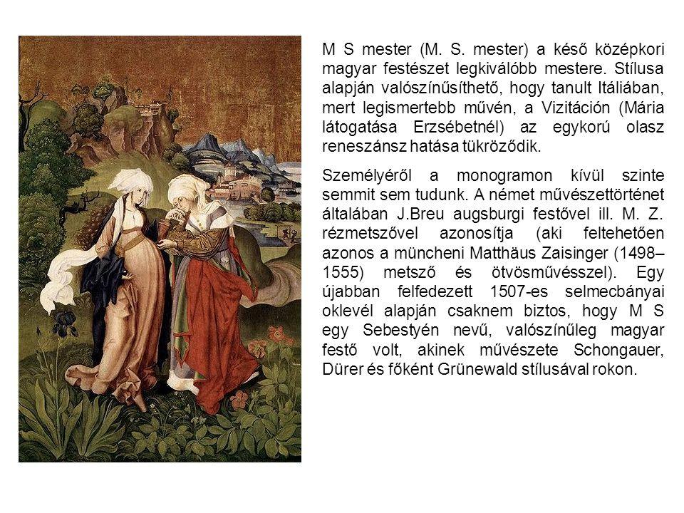 M S mester (M. S. mester) a késő középkori magyar festészet legkiválóbb mestere. Stílusa alapján valószínűsíthető, hogy tanult Itáliában, mert legisme