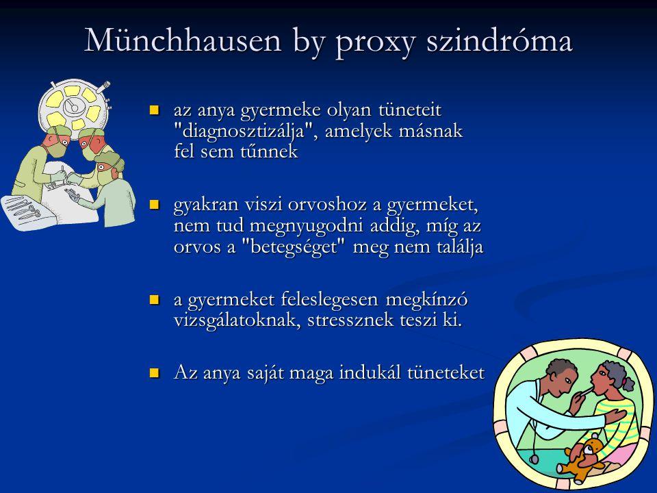 Münchhausen by proxy szindróma aaaaz anya gyermeke olyan tüneteit
