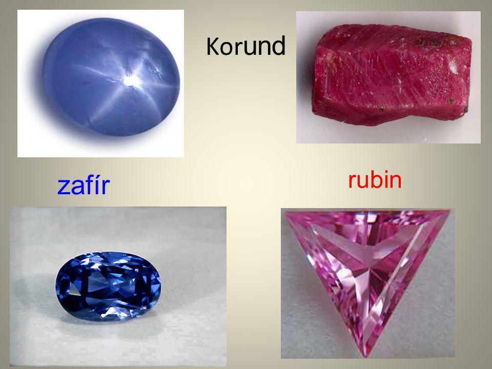 Kor und zafír rubin