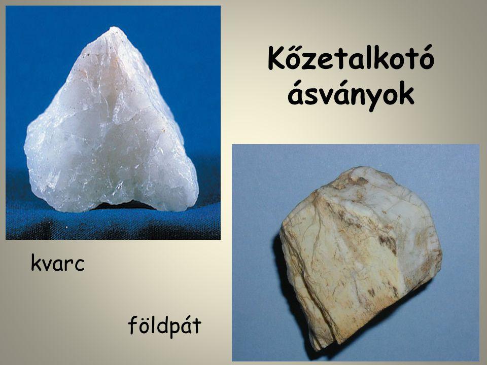 Kőzetek (horniny) A kőzet ásványokból álló, szervetlen, természeti képződmény.