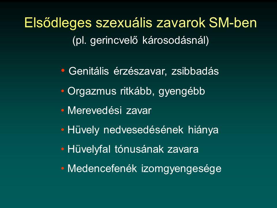 Elsődleges szexuális zavarok SM-ben (pl.