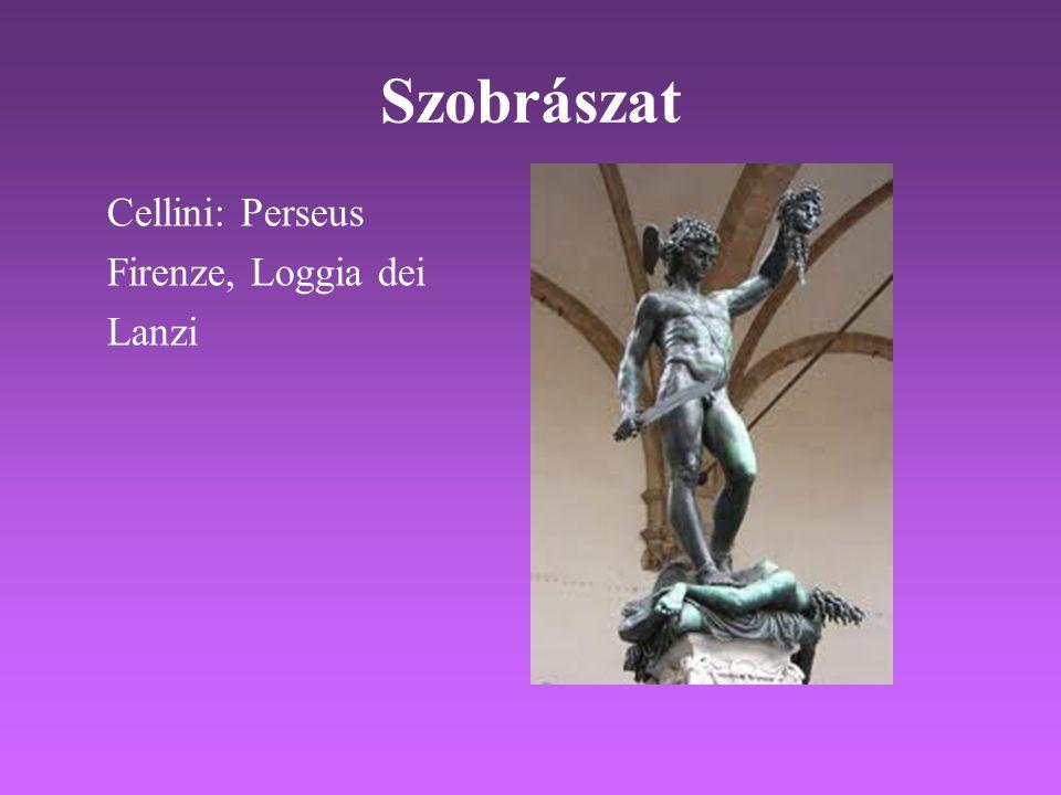 Szobrászat Cellini: Perseus Firenze, Loggia dei Lanzi