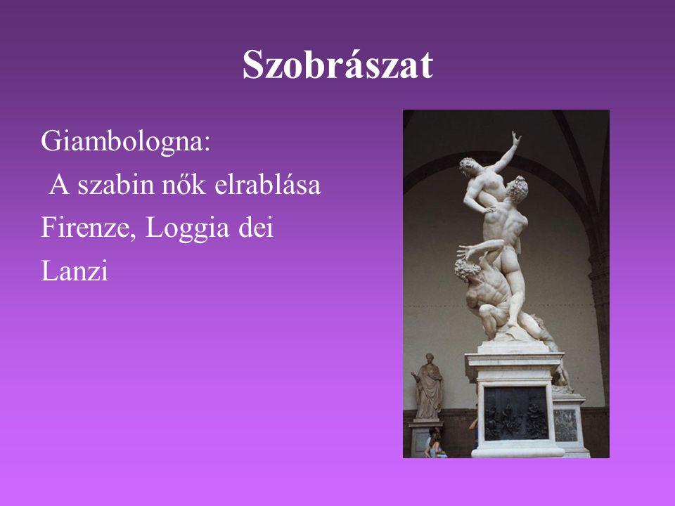 Szobrászat Giambologna: A szabin nők elrablása Firenze, Loggia dei Lanzi