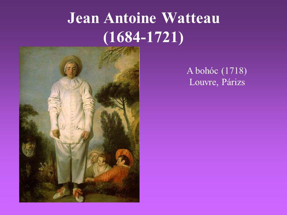 Jean Antoine Watteau (1684-1721) A bohóc (1718) Louvre, Párizs