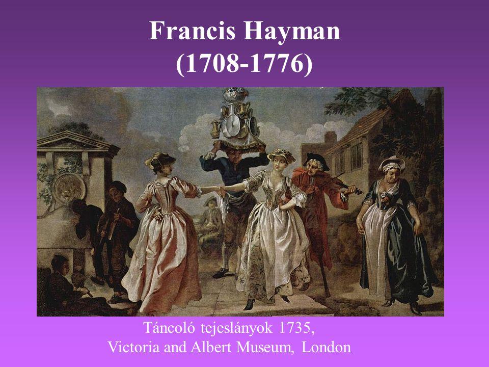 Francis Hayman (1708-1776) Táncoló tejeslányok 1735, Victoria and Albert Museum, London