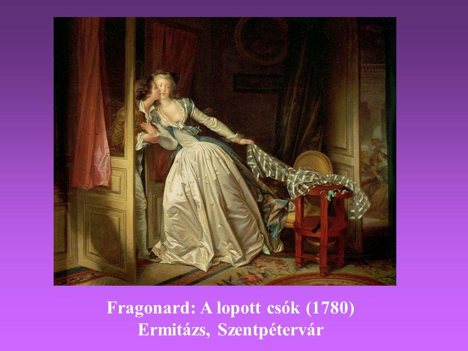 Fragonard: A lopott csók (1780) Ermitázs, Szentpétervár