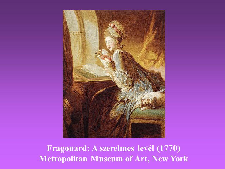 Fragonard: A szerelmes levél (1770) Metropolitan Museum of Art, New York