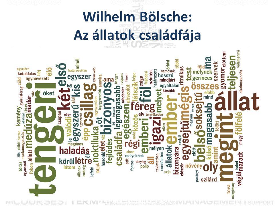 Wilhelm Bölsche: Az állatok családfája