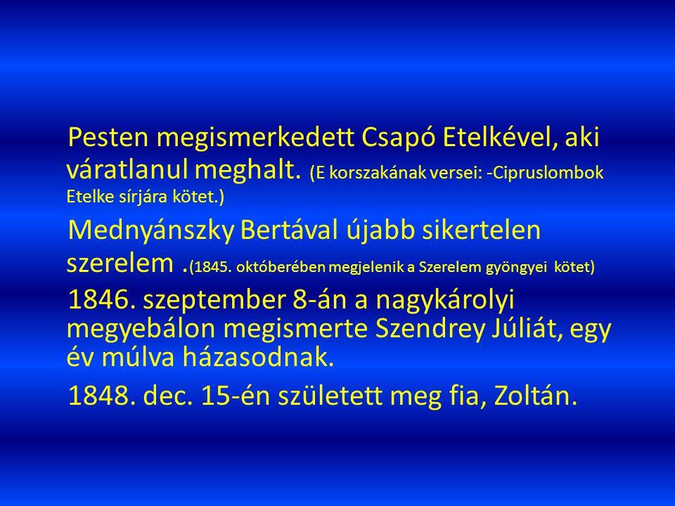 1843 őszétől Debrecenben ismét felcsapott színésznek, egy kisebb együttessel vándorolt de nem sok idő után visszatért Debrecenbe. 1844 februárjában ne