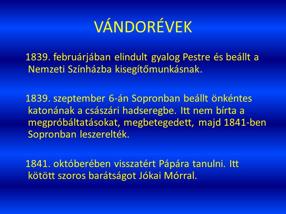 VÁNDORÉVEK 1839.
