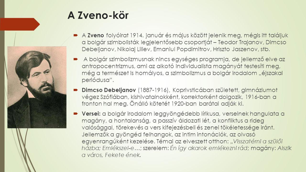 A Zveno-kör  A Zveno folyóirat 1914.