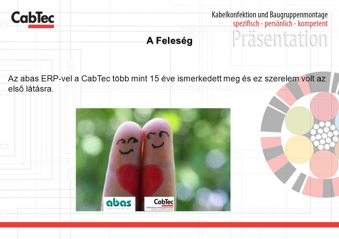 A Feleség Az abas ERP-vel a CabTec több mint 15 éve ismerkedett meg és ez szerelem volt az első látásra.