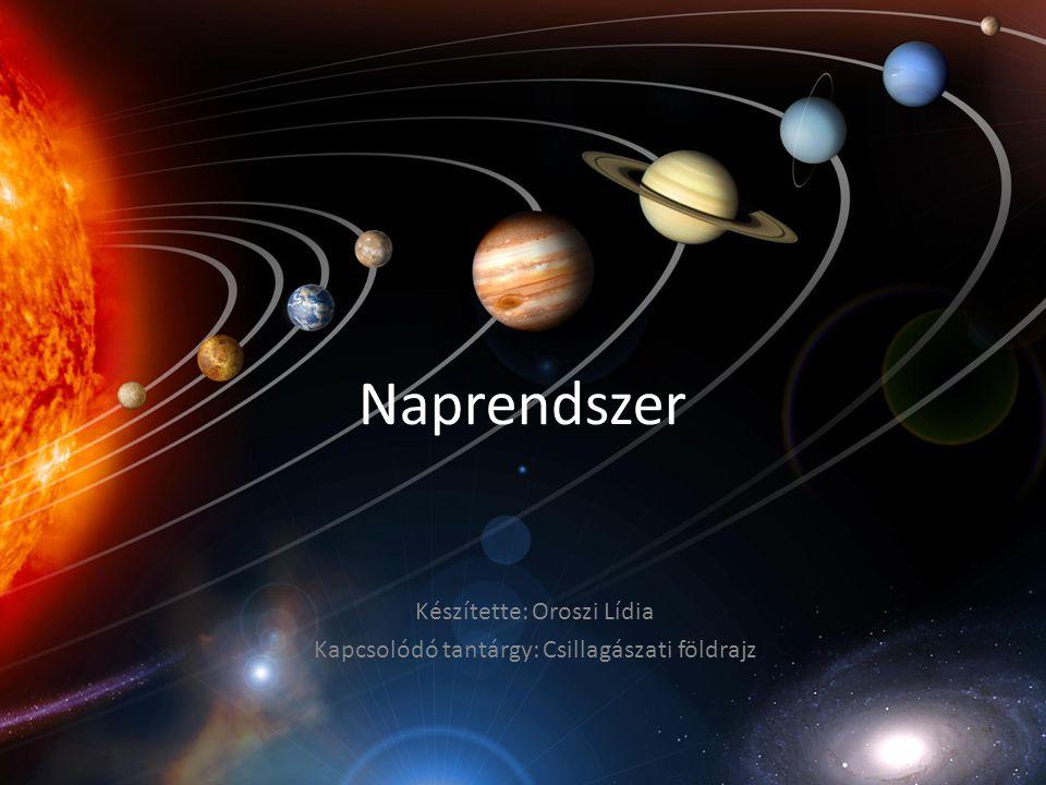 Naprendszer Készítette: Oroszi Lídia Kapcsolódó tantárgy: Csillagászati földrajz