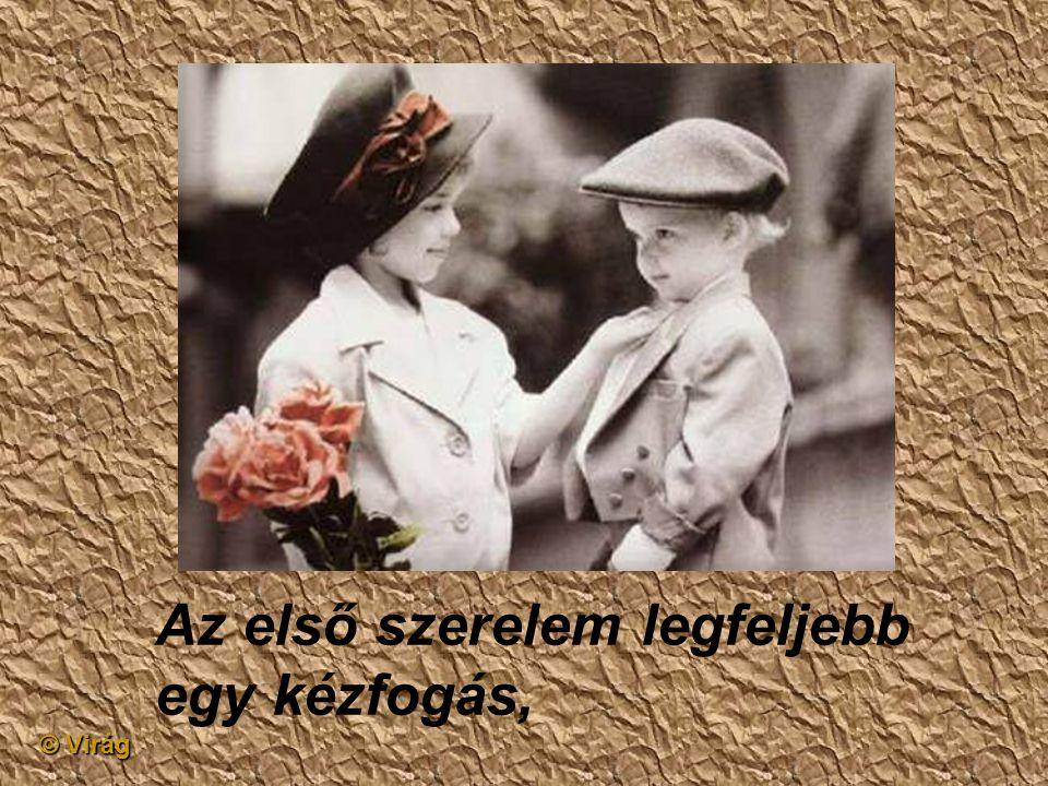 © Virág Az első szerelem olyan, mint egy álmodás,