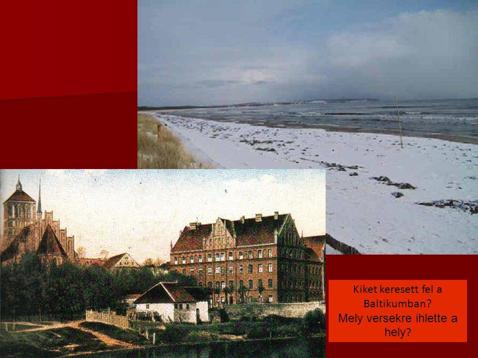 Kiket keresett fel a Baltikumban? Mely versekre ihlette a hely ?