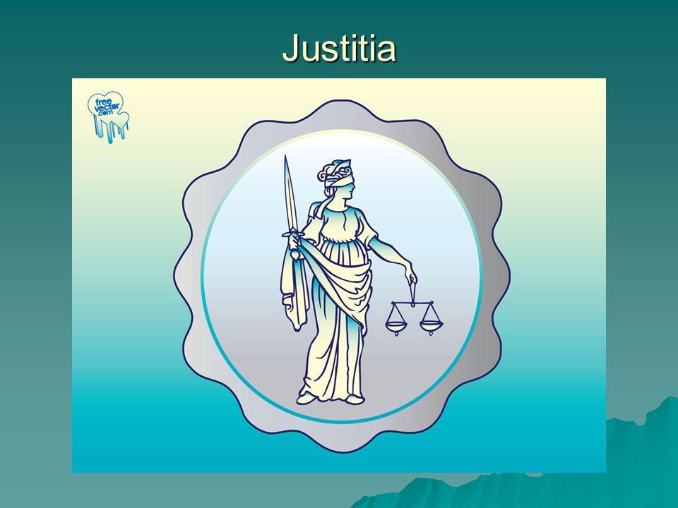 Justitia istennő személyesíti meg a nyugati világban az igazságszolgál- tatást, az igazságosságot.