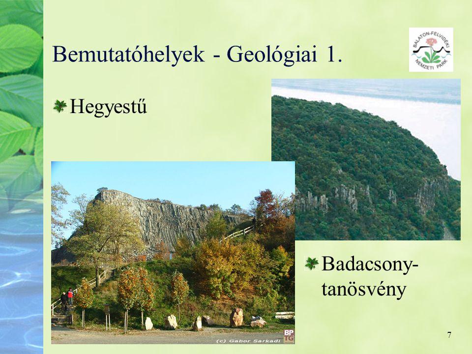 7 Bemutatóhelyek - Geológiai 1. Hegyestű Badacsony- tanösvény