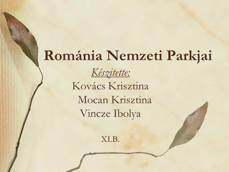 Románia Nemzeti Parkjai Készitette: Kovács Krisztina Mocan Krisztina Vincze Ibolya XI.B.