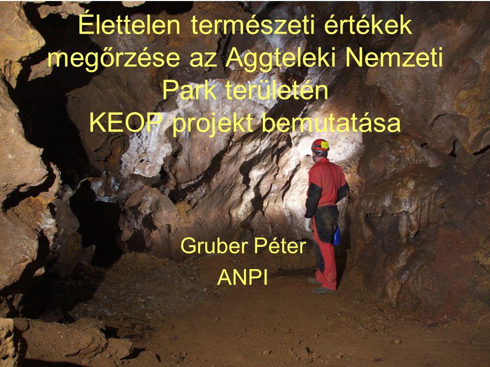 •A projekt közvetlen célja, az élettelen természeti értékek (barlangok, földtani alapszelvények, földtani természetvédelmi értéket képviselő bányák) és az ezekhez kapcsolódó élővilág hatékony és korszerű megőrzése, rehabilitációja.