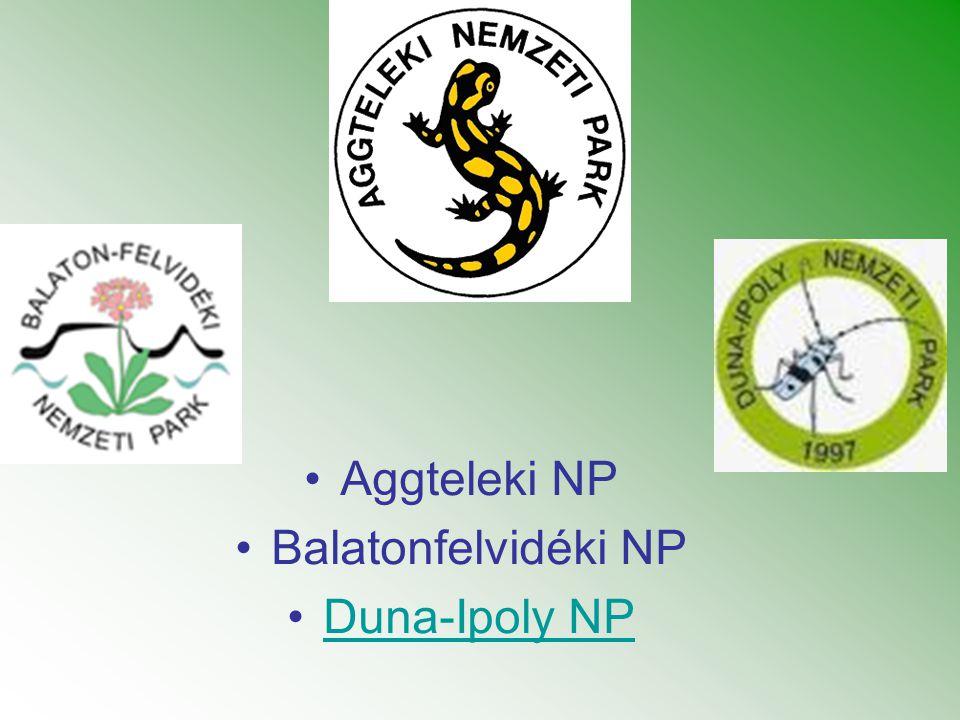 •Aggteleki NP •Balatonfelvidéki NP •Duna-Ipoly NPDuna-Ipoly NP