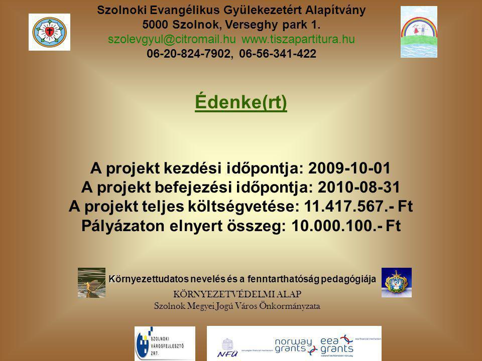 Szolnoki Evangélikus Gyülekezetért Alapítvány 5000 Szolnok, Verseghy park 1.