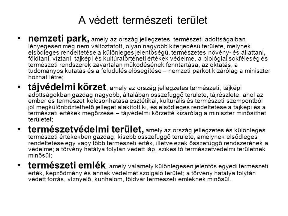 Bioszféra-rezervátumok Magyarországon •e hektár magterületéve 1.