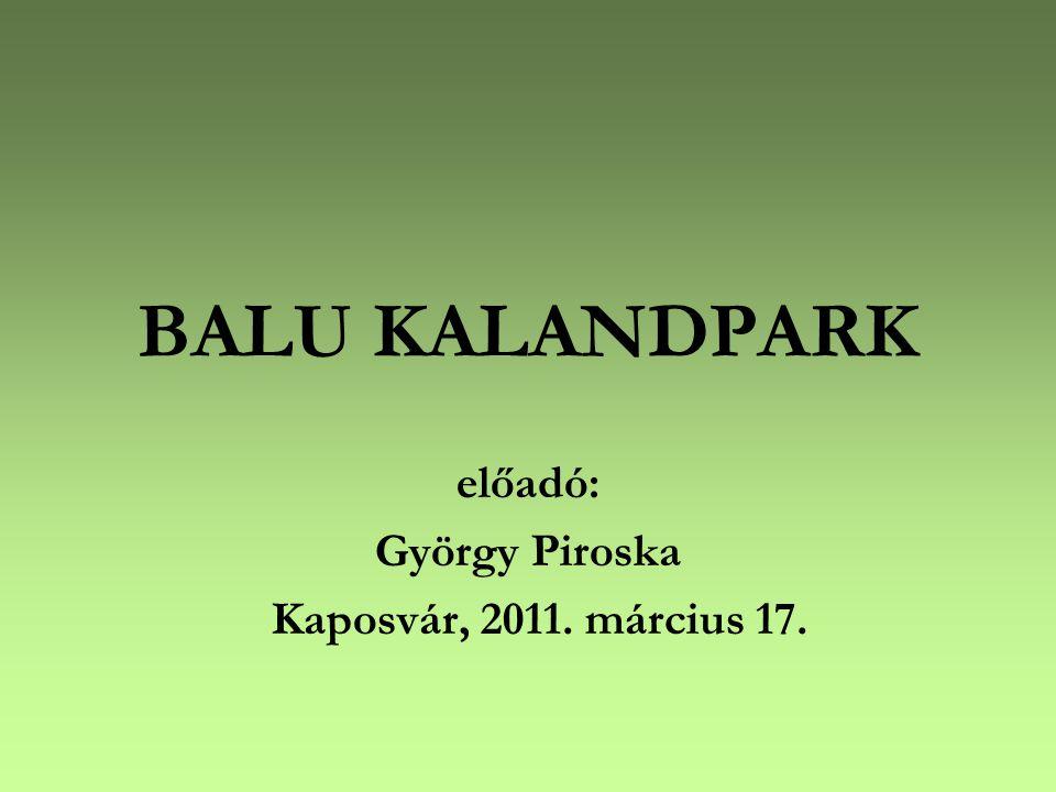 BALU KALANDPARK előadó: György Piroska Kaposvár, 2011. március 17.