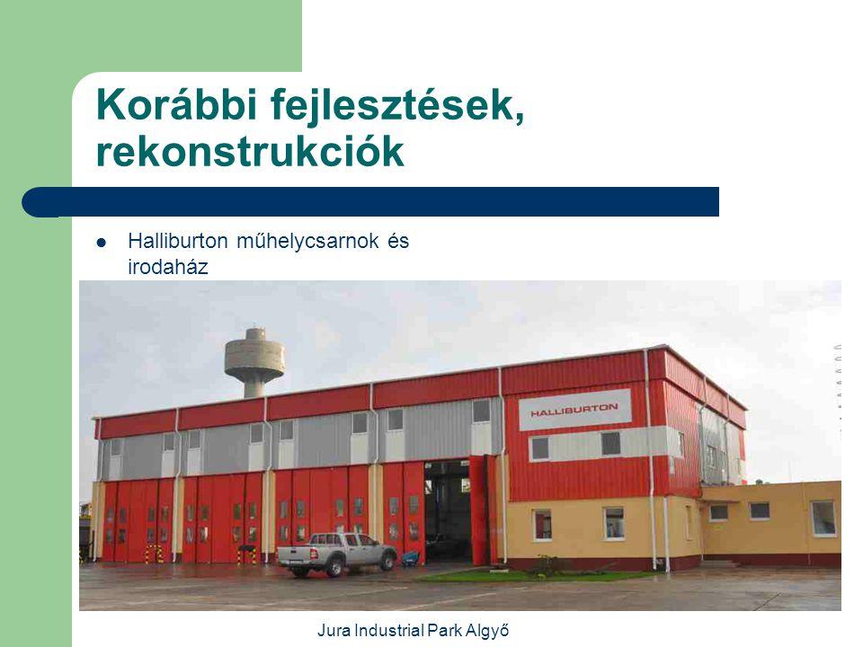 Jura Industrial Park Algyő Korábbi fejlesztések, rekonstrukciók  Tejtransz Kft.
