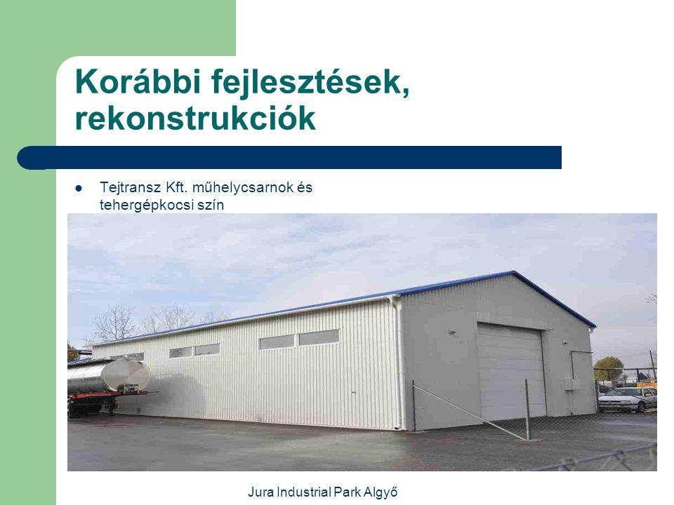 Jura Industrial Park Algyő Korábbi fejlesztések, rekonstrukciók  Jafholz Kft.