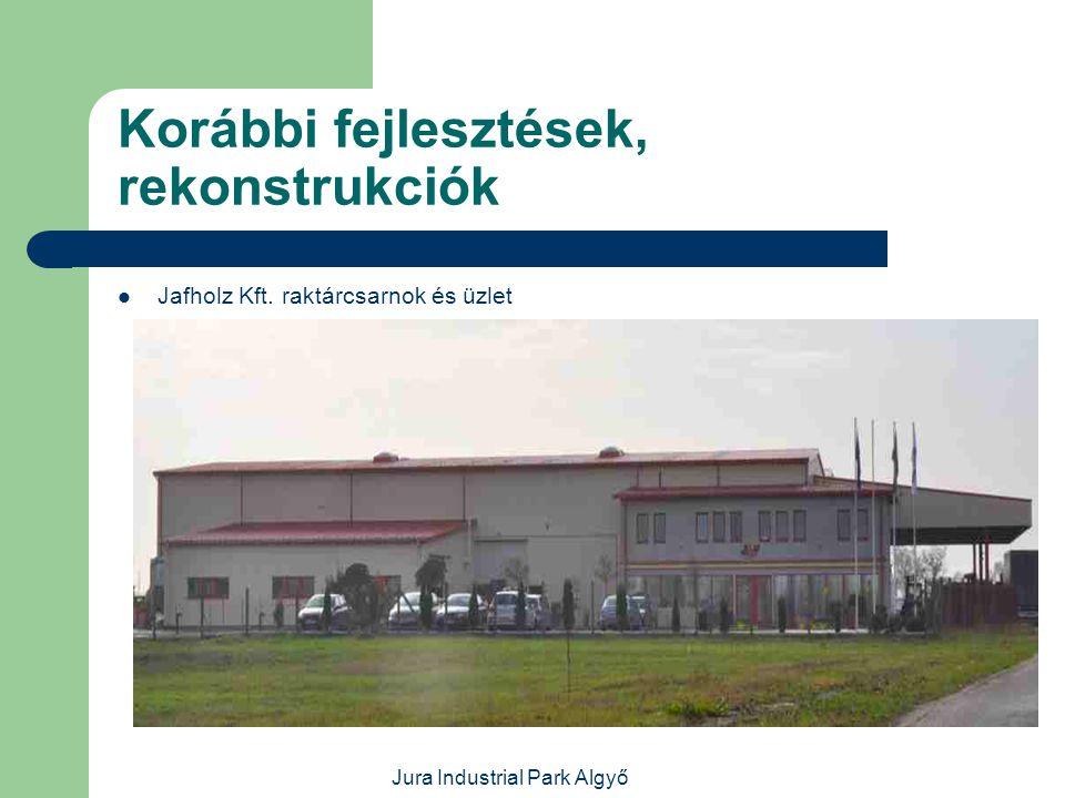 Jura Industrial Park Algyő Korábbi fejlesztések, rekonstrukciók  Útvasút Kft. és Atys-Co Kft.