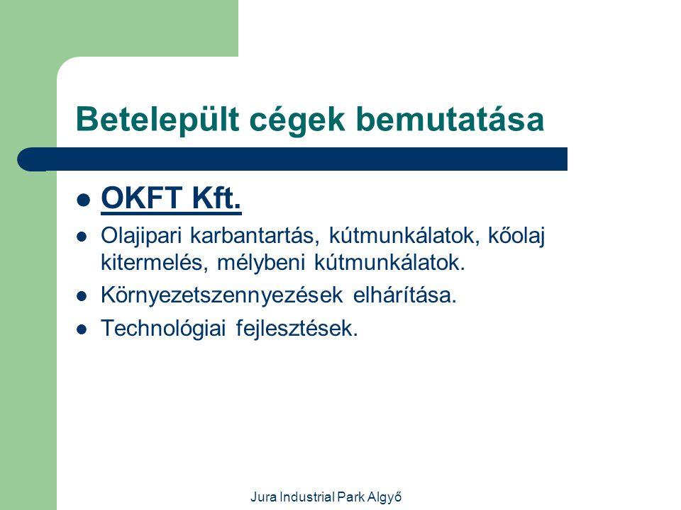 Jura Industrial Park Algyő Betelepült cégek bemutatása  Útvasút-Szeged Kft.